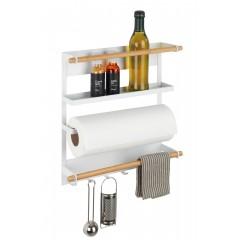 Wenko Küchenregal Magna, Weiß, Magnetisches Regal zur Befestigung ohne Bohren