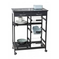 Wenko Küchenwagen Bon Appetit, Küchenregal, aus MDF