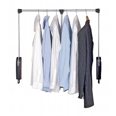 Garderobenlift, schwenkbare Kleiderstange