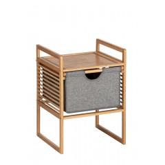 Wenko Beistelltisch mit Schublade Bahari, Nachttisch aus Bambus