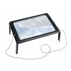 Leselupe LED, 300% Vergrößerung