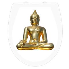 WC-Sitz Aufkleber goldener Buddha