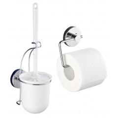 Vacuum-Loc Toilettenpapierhalter Milazzo und WC-Garnitur, 2-teiliges Set