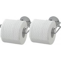 Wenko Turbo-Loc® Toilettenpapierrollenhalter, 2er Set, Befestigen ohne bohren