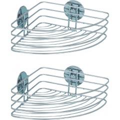 Wenko Turbo-Loc® Eckablage, 2er Set, Befestigen ohne bohren