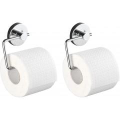 Wenko Vacuum-Loc® Toilettenpapierhalter Milazzo, 2er Set, Befestigung ohne bohren
