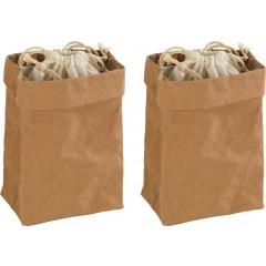 Aufbewahrungstüte Papier klein, 2er Set