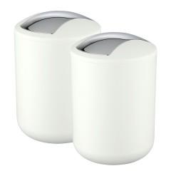 Wenko Kosmetikeimer Brasil Weiß S, 2er Set, je 2 Liter