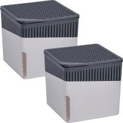 Wenko Raumentfeuchter Cube Grau 1000 g, 2er Set