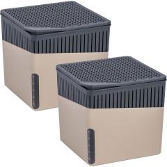Wenko Raumentfeuchter Cube Beige 1000 g, 2er Set