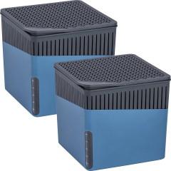 Wenko Raumentfeuchter Cube Blau 1000 g, 2er Set