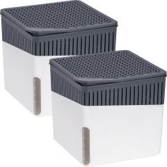 Wenko Raumentfeuchter Cube Weiß 500 g, 2er Set
