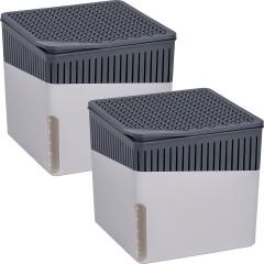Wenko Raumentfeuchter Cube Grau 500 g, 2er Set
