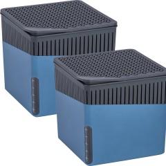 Wenko Raumentfeuchter Cube Blau 500 g, 2er Set