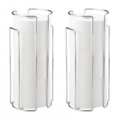 Wenko Toilettenpapier-Ersatzrollenhalter Chrom, 2er Set, für 3 Rollen