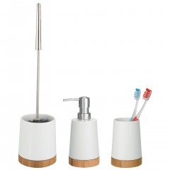 Wenko Bad-Accessoire-Set Bamboo, aus Keramik und Bambus