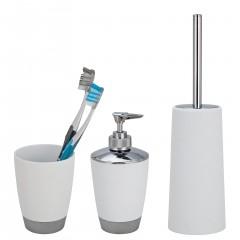 Wenko Bad-Accessoire Set Vercelli, Chrom, 3-teilig, Praktisches Set für eine einheitliche Einrichtung im Bad