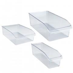 Wenko Kühlschrank-Organizer, 3er Set, Aufbewahrungsboxen für Kühl- und Vorratsschrank