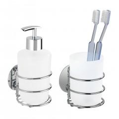 Wenko Turbo-Loc® Seifenspender und Zahnputzbecher, Befestigen ohne bohren