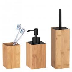 Wenko Bad-Accessoire Set Padua, Bambus, 3-teilig, 3-tlg.