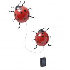 Wenko Solar-Marienkäfer mit LED Beleuchtung, 2er Set