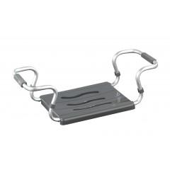 Wenko Badewannensitz Secura Silber, ausziehbar, 150 kg Tragkraft