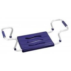 Wenko Badewannensitz Secura Blau, ausziehbar, 150 kg Tragkraft