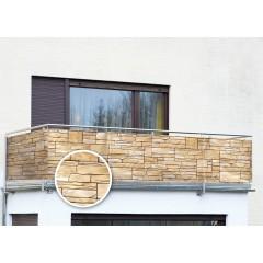 Wenko Sichtschutz Mauer, für Balkon und Terrasse