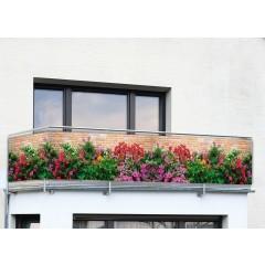 Balkon-Sichtschutz MAUER-BLUMEN WENKO