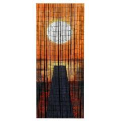 Bambusvorhang Sonnenuntergang
