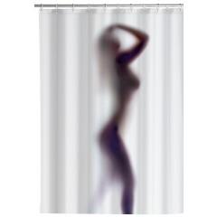 Wenko Anti-Schimmel Duschvorhang Silhouette, 180 x 200 cm, waschbar