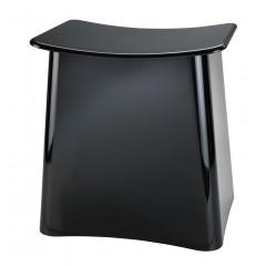 Wenko 2in1 Hocker Wing schwarz, Badhocker mit Wäschesammler