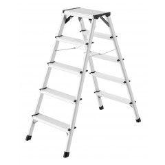 Hailo D60 StandardLine, Alu-Doppelstufen-Klapptritt, 2 x 5 Stufen