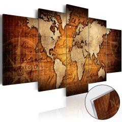 Artgeist Acrylglasbild - Acrylic prints – Bronze map I