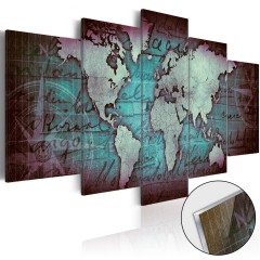 Artgeist Acrylglasbild - Acrylic prints – Bronze map II