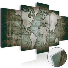 Artgeist Acrylglasbild - Acrylic prints – Bronze map III