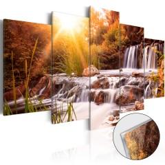 Artgeist Acrylglasbild - Autumn's Valley [Glass]
