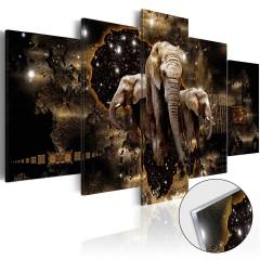 Artgeist Acrylglasbild - Brown Elephants [Glass]