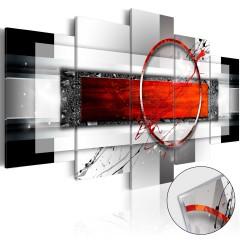 Artgeist Acrylglasbild - Carmine Missile [Glass]