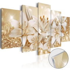 Artgeist Acrylglasbild - Golden Bouquet [Glass]