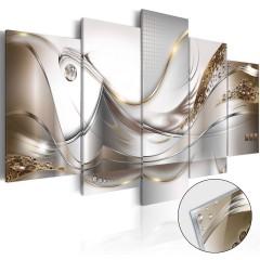 Artgeist Acrylglasbild - Golden Flight [Glass]