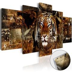 Artgeist Acrylglasbild - Golden Jungle [Glass]