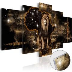 Artgeist Acrylglasbild - Golden Lion [Glass]