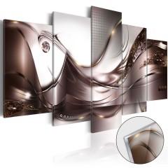 Artgeist Acrylglasbild - Golden Storm [Glass]