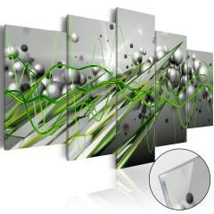 Artgeist Acrylglasbild - Green Rhythm [Glass]