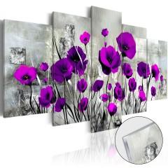 Artgeist Acrylglasbild - Meadow: Purple Poppies [Glass]