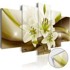 Artgeist Acrylglasbild - Modern Lily [Glass]