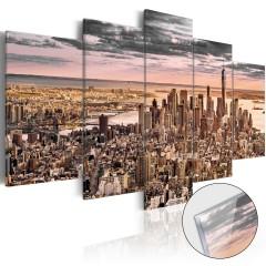 Artgeist Acrylglasbild - New York City: Morning Sky [Glass]