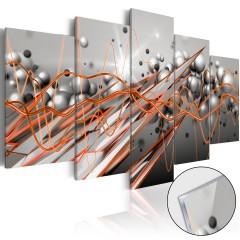 Artgeist Acrylglasbild - Orange Stream