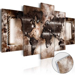 Artgeist Acrylglasbild - Platinum Map [Glass]